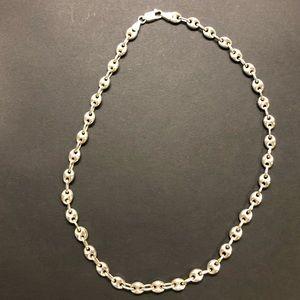 STERLING SILVER Mariner link necklace!